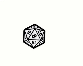 20 Sided Dice Magik Dungeons&Dragons Iron on Patch