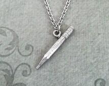 Pencil Necklace SMALL Pencil Jewelry Teacher Necklace Teacher Jewelry Teacher Gift School Jewelry Student Necklace Writer Necklace Writing