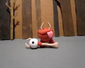 "Don't Starve ""Chester and Eye Bone"" pendant/figurine set"