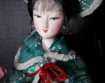 Chinese Silk Faced Doll