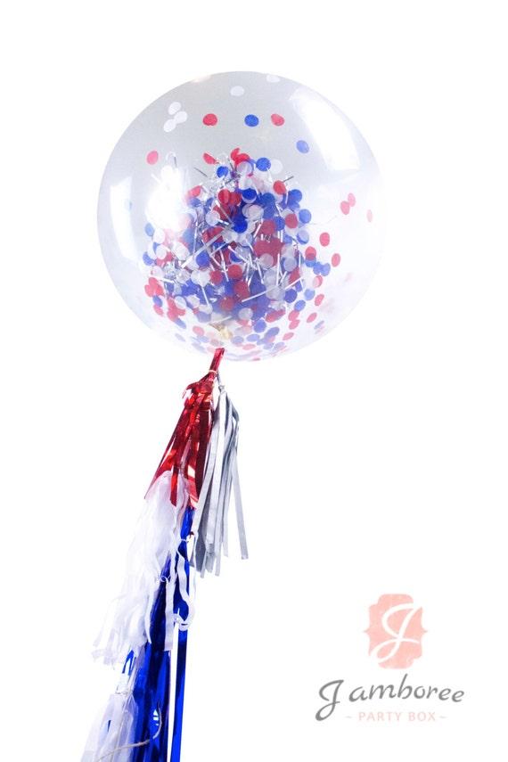 36 Evening Sparkles Balloon Giant Clear Balloon Confetti
