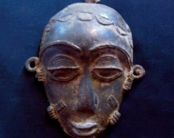 4 Different Bronze Lost Wax Pendant Mask Currency African Tribal Jewelry
