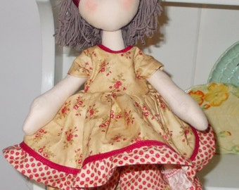 Handmade Collectible Cloth/Fabric Art Doll
