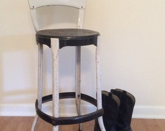 Metal High Chair Etsy