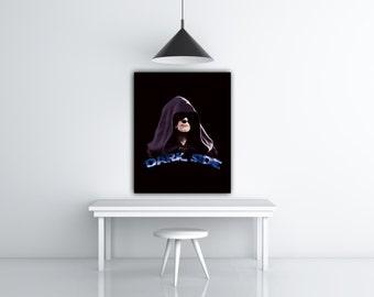 Star Wars Emperor Palpatine Darth Sidious Portrait Art Illustration, Star Wars Empire Strikes Back, Dark Side, Movie Poster Art Cinema Decor