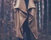 10% Off - Asymmetric Maxi Extravagant Warm Winter Coat / Loose Elegant Coat