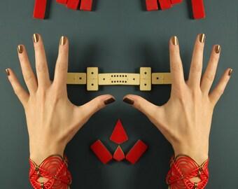 Red bracelet // Waterproof bracelet // Beach bracelet // Lace cuff