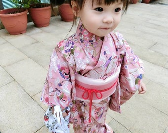 Japan kimono sakura custom order handmade women