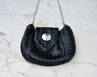 Tie handbag black