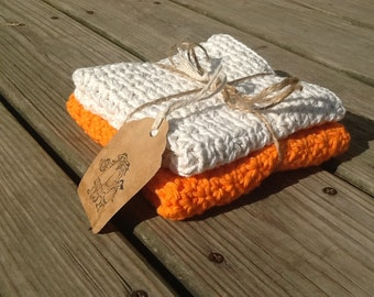 Set of 2 Cotton Crochet Dish Cloths