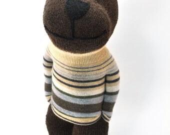 Brown Bear Sock Animal