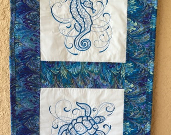 Sea Turtle and Sea Horse Quilt