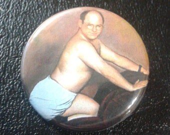 """george costanza timeless art of seduction 1.25"""" pinback button"""