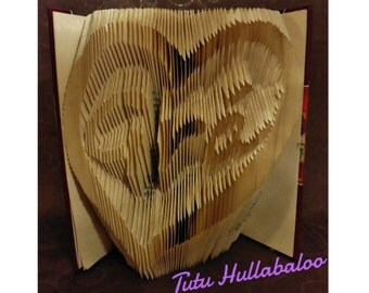 Book Art - Bookfold - Custom Designed by You - Gift for a New Home - Anniversary Gift