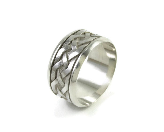 wedding silver ring engagement celtic ring celtic band ring