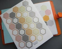 Printable Hexagon Stickers \\ INSTANT DOWNLOAD \\ Great for your A5 Inkwell Press Planner or Planner of Your Choice