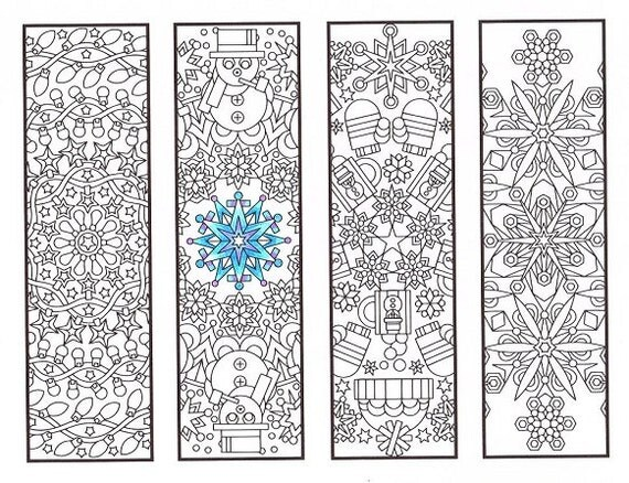 Christmas Coloring Bookmarks Winter Mandalas For