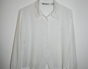 womens white button up blouse