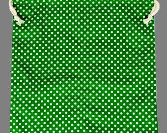 Flamenco Shoes Bag Multi Color Green Polka Dots Gift Dance Shoes Bag Flamenco Skirts