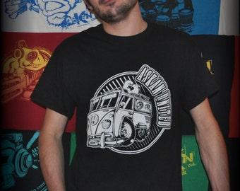 Tee shirt ASKAN UNITED 'Van' - Tee shirt black - white inking