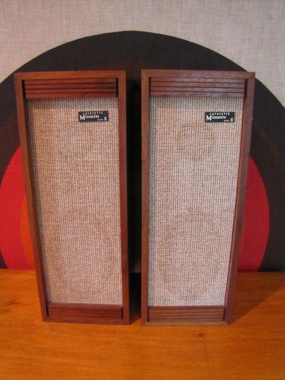 Vintage Lafayette Bookcase Speakers Set Of 2 Lafayette