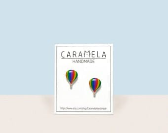 Hot air balloon Stud Earrings