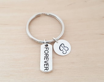 Forever Keychain - Personalized Keychain - Initial Keychain - Forever Gift - Key Chain - Gift - Custom KeyChain