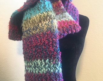 Multicolored knit scarf