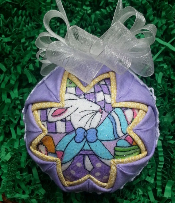 Easter Handmade Quilted Keepsake Ornament by OrnamentsByRebeccaT
