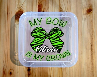 Cheer Bow Holder, Cheer Bow Box, Cheer Bow Case, Cheerleading Gifts Personalized, Cheer Team Gifts, Cheer Gifts, Cheerleader, Cheer Mom Gift