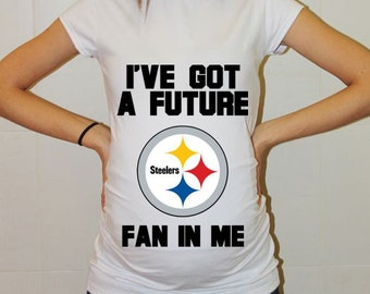 Pittsburgh Steelers Baby Pittsburgh Steelers Shirt Women Maternity Shirt Funny Football Pregnancy Pregnancy Shirts Pregnancy Clothing