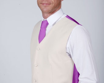 Violet Wedding / Prom Waistcoat by Matchimony available with Matching Items