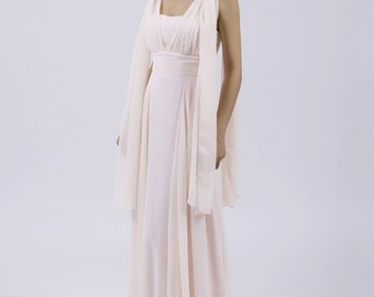 Pale Pink Multiway Long Bridesmaid/Prom Dress (12 Styles) by Matchimony