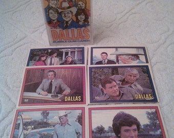 Dallas set + single cards, 1980s cards, Donruss  brand cards, Dallas TV series, Larry Hagman, 1980s soap opera
