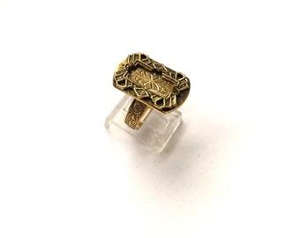 Vintage Ornate Adjustable Ring Blank // Ring Base // Ring to Embellish // Ring Setting
