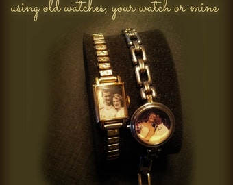 Photo Braceletts Made from Old Watches