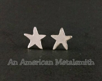 Starfish Earrings|Sterling Silver Starfish Earrings|Starfish Jewelry|Silver Stud|Stud Earrings|Animal Earrings|Star Earrings|Star Jewelry