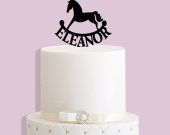 Personalised Rocking Horse Cake Topper