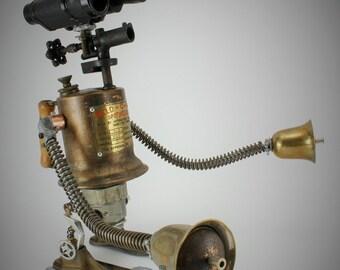 Curious Robot Print, Fine Art Robot, Science Fiction Art, Lovable Bot, Wall Art Decor, Giclee Print, 8x10