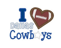 fan supporter saying for the Dallas cowboys embroidery design file in 7 formats applique instant download football custom order
