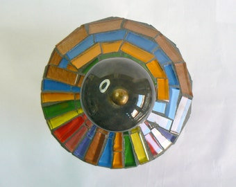 Mosaic Bottle Colorful Illusion