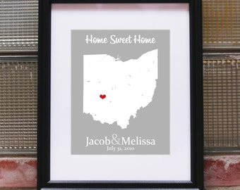 Our First Home Sign, New Home Housewarming Gift, House Warming Gift, New Home Gift, New Home Sign, New Home Decor, New House Gift, Art Print