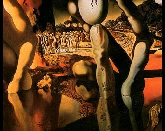 """Salvador Dali Print, """"Metamorphosis Of Naricssus-Detail"""", Salvador, Dali, Surrealism, Dali Painting,  Circa 1936, Vintage Book Plate Print"""