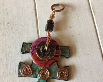 Game Piece Jewelry- Puzzle Piece - Puzzle Piece Pendant - Game Lover's Gift - Handmade Pendant - Gift for Her - Fun Jewelry -  Upcycled