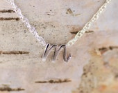 Tiny Initial Necklace, Personalized Women, Personalized Gift, Monogram Necklace,Dainty Necklace,Everyday Necklace,Silver,Gift for Women