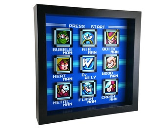 Mega Man 2 (NES) Stage Select Shadow Box