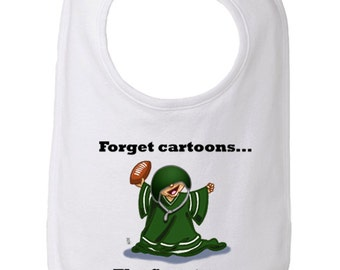 Michigan State Baby Bib, Forget Cartoons the Spartans are On Bib