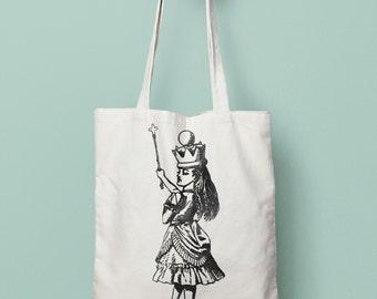 Alice In Wonderland - Queen Canvas Tote | Queen Canvas Bag