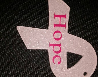 Hope Breast Cancer Ribbon Keychain