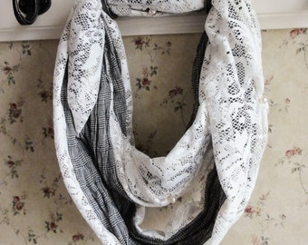 COL scarf with lace.